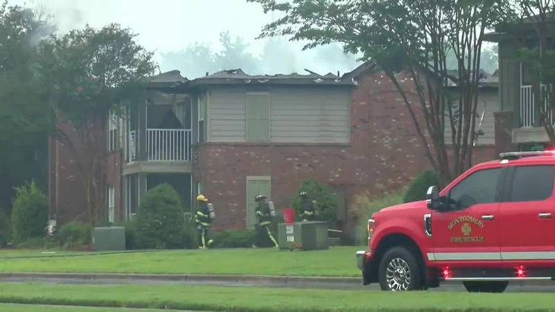 Fire badly damages Montgomery apartments