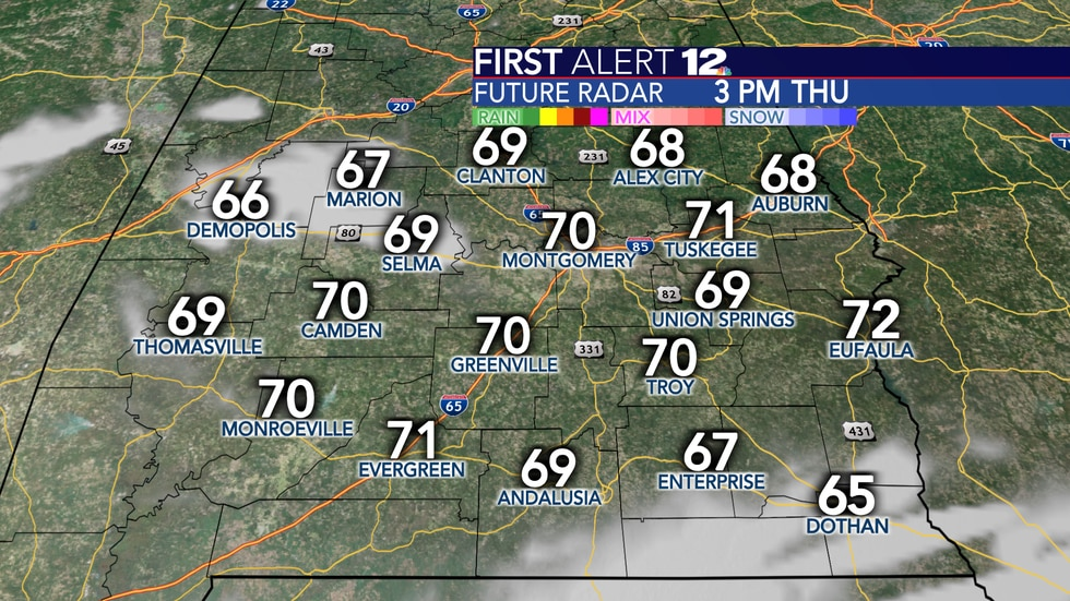 Some spots could reach the 70s tomorrow