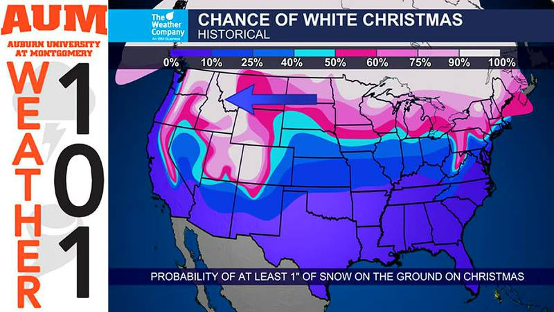 Weather 101: What are our historical odds of a White Christmas?