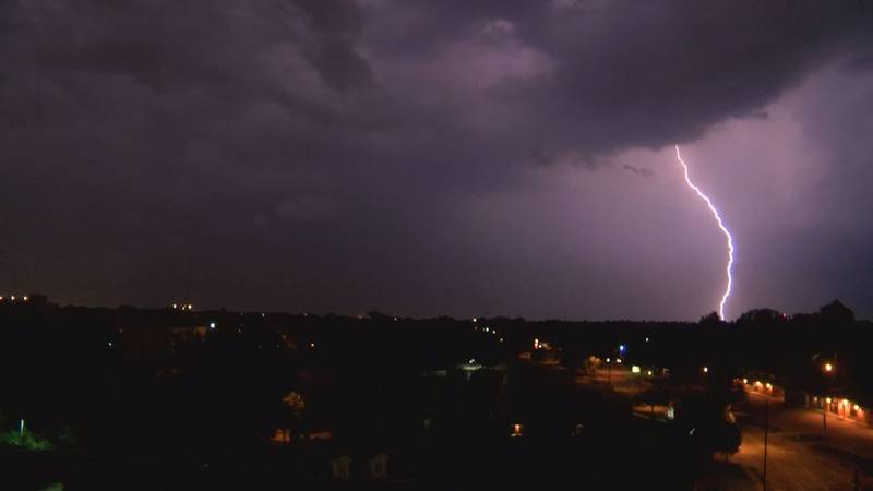 Lightning is 50,000°F or five time hotter than the surface of the sun. (Source: Raycom Media)