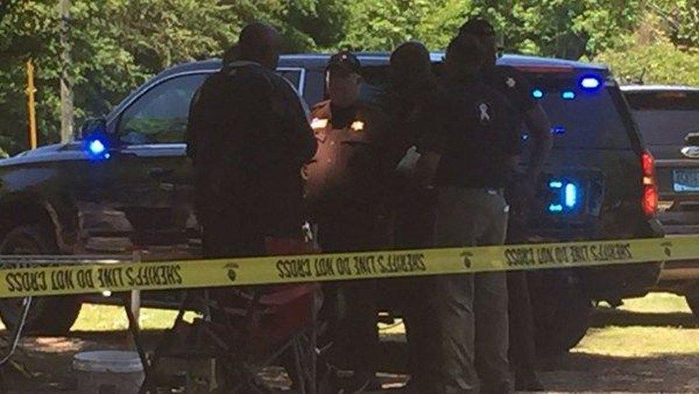 Crime scene on County Road 67 in Macon County. (Source: WSFA 12 News)