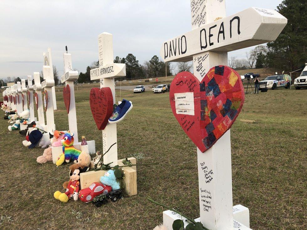 Memorial for Sunday's tornado victims