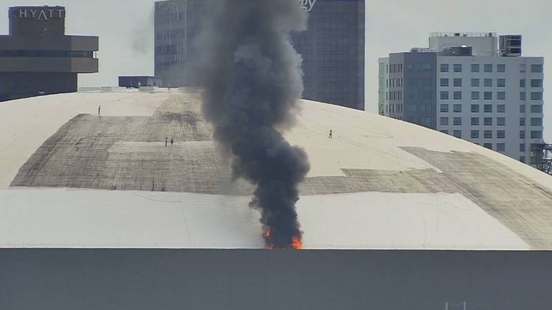 A fire was reported at the Caesar's Superdome just after 12:30 p.m. on Sept. 21