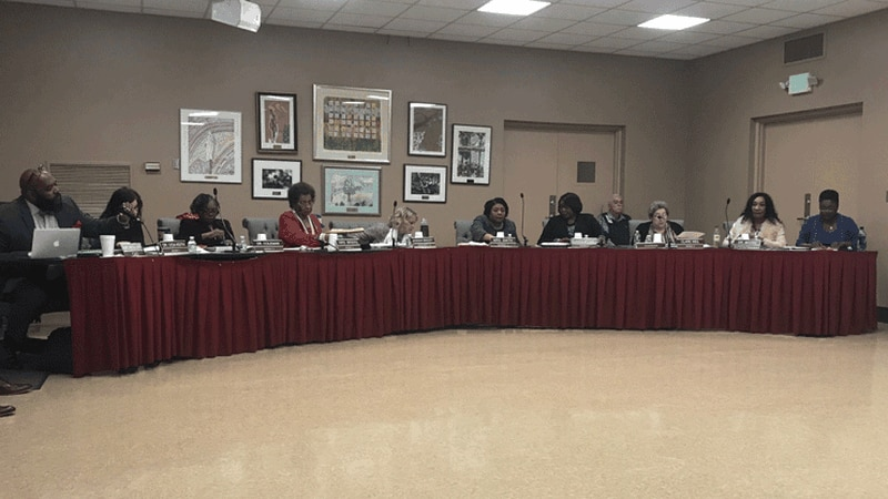 The Montgomery County Board of Education meets in this photo, dates Jan. 31, 2019.