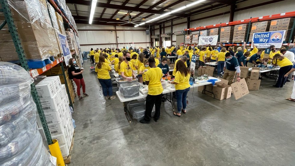 """Lee County United Way held a """"Feed the Need"""" event Tuesday to kick off their 2022 campaign..."""