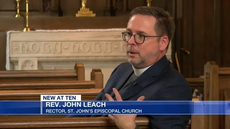 The Rev. John Leach has ambitious plans as 16th rector of St. John's Episcopal Church.