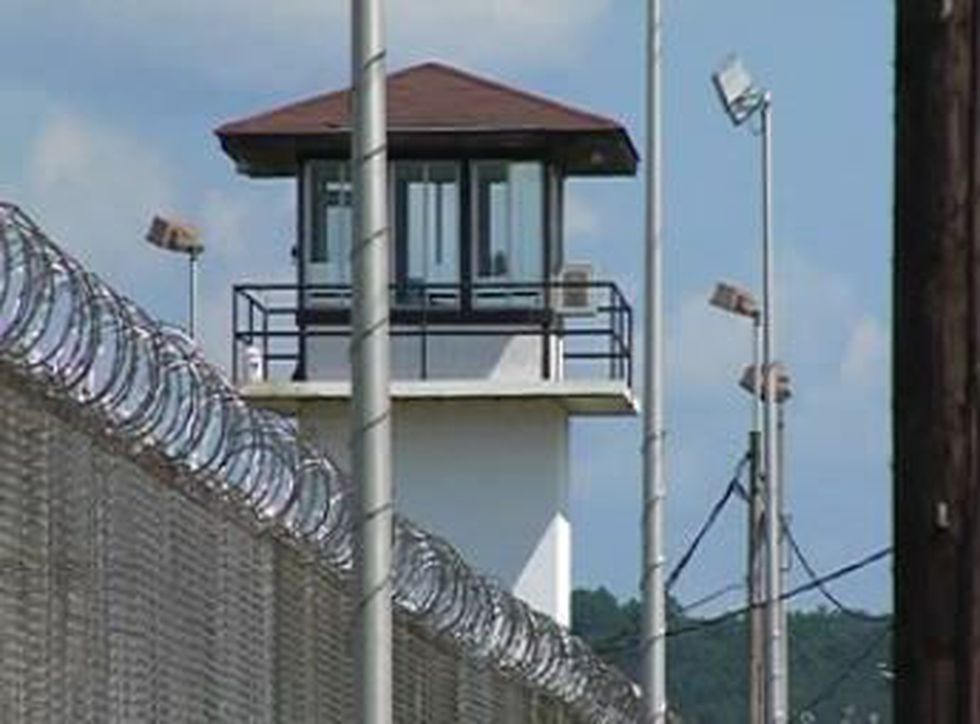 Guard tower at Tutwiler Prison in Wetumpka