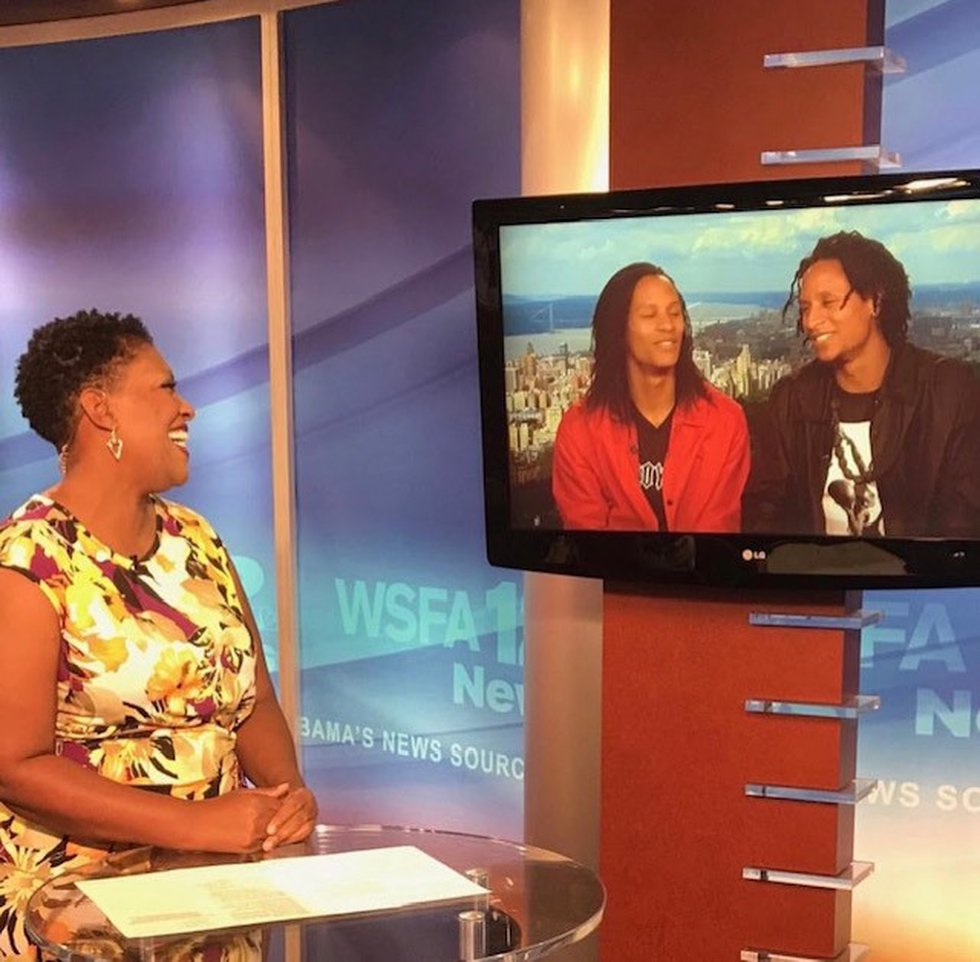 WSFA 12 News Anchor Tonya Terry interviews the Les twins for an Alabama Live! segment. The two...