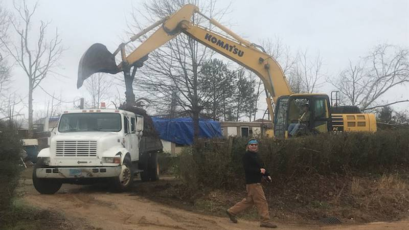 Crews are cleaning up storm damage in Pickens County.