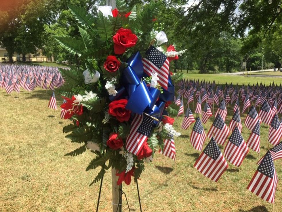 More than 2,000 flags cover the grounds at Pennington Park in Dadeville.