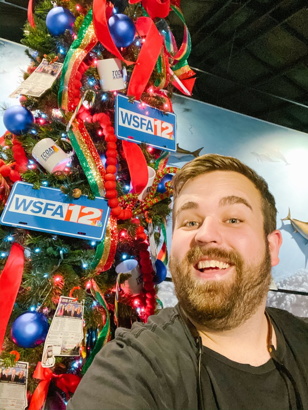 Evan Cooper from Evan & Company helped decorate the WSFA 12 News studio for Christmas.