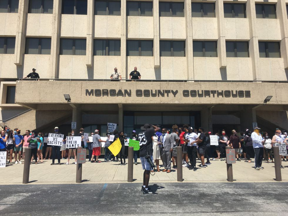 Decatur protesters hold peaceful rally, march following death of George Floyd