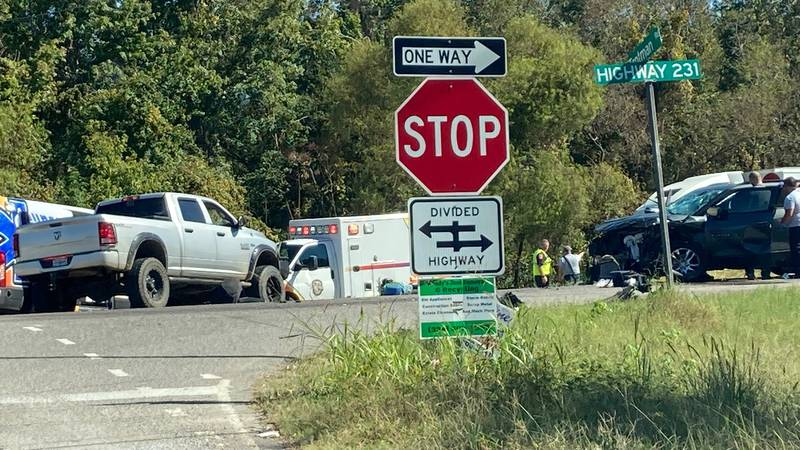 A crash is causing heavy delays on U.S. Hwy. 231 at Trotman Road in Pike Road.