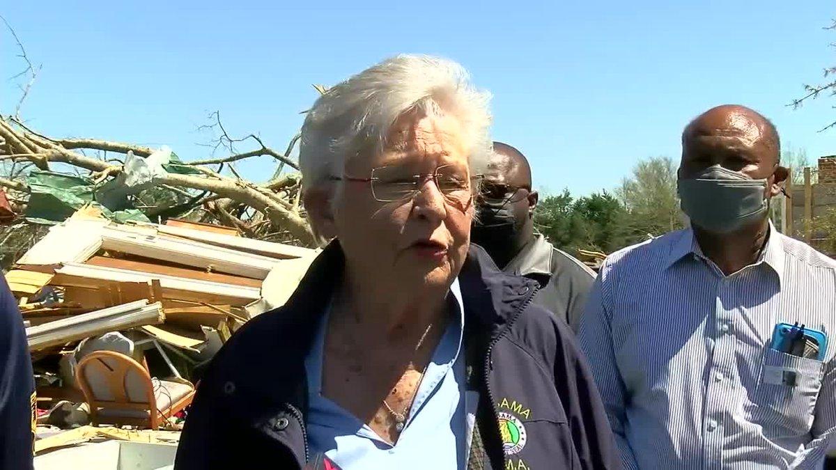 Governor Ivey tours tornado damage