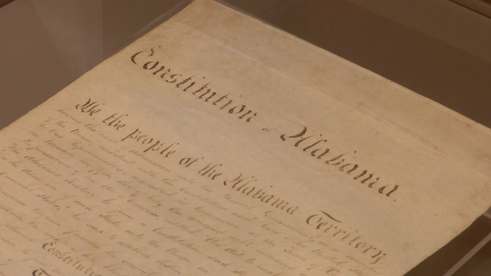 Alabama's first constitution was shown to descendants of its signers Tuesday as part of a state...