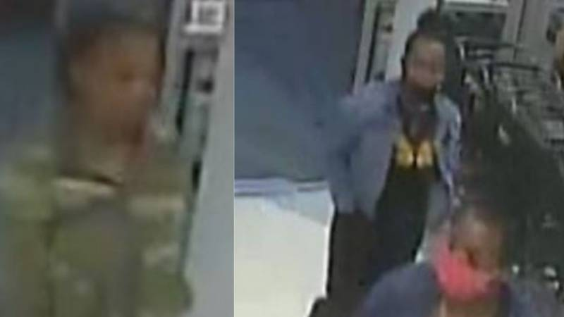 Opelika police release surveillance photos in search of three theft suspects.