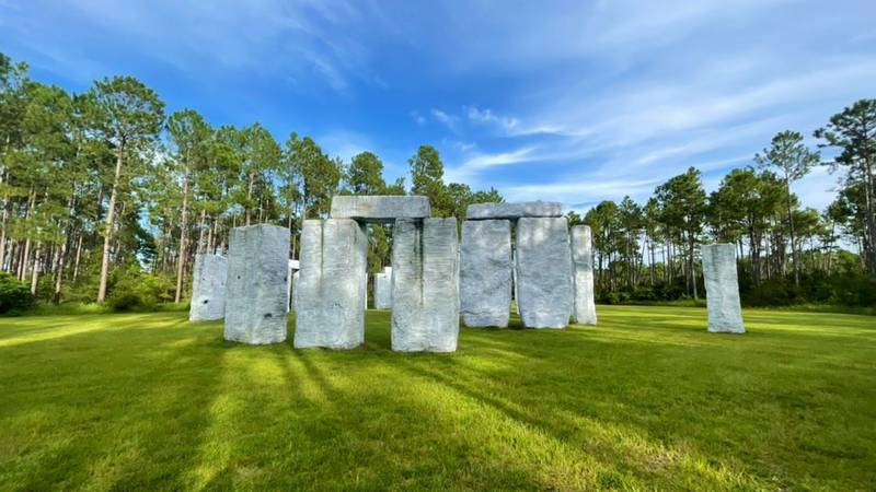 This is Mark Cline's second recreation of the iconic Stonehenge found in England. The Elberta...