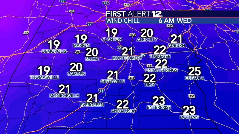 It will once again be very cold Wednesday morning, but not as cold as this morning.