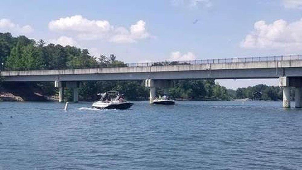 """No Wake"" zone created at the bridge where Ridge Island Way crosses over to Chimney Rock..."