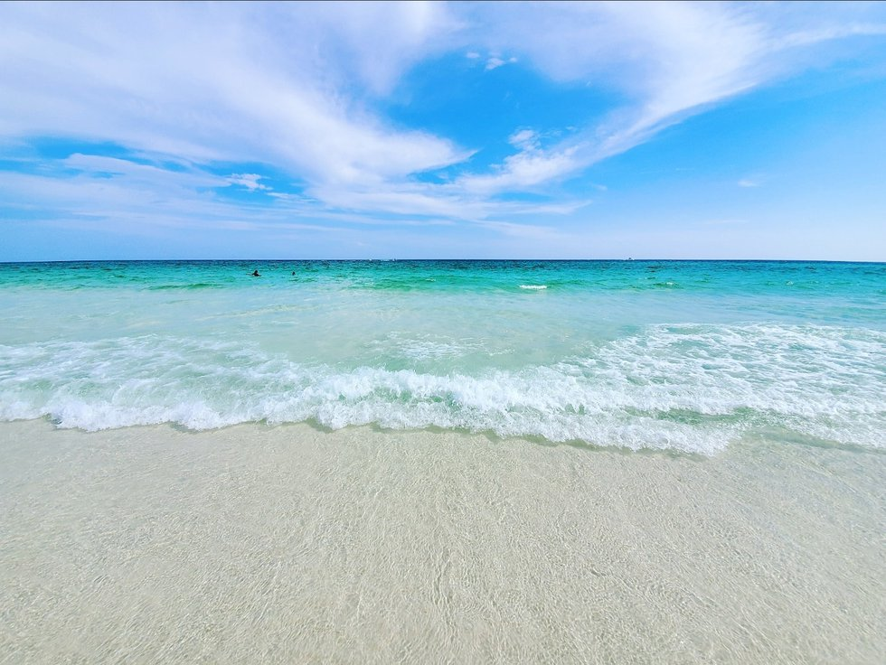 The water of Destin, Florida.