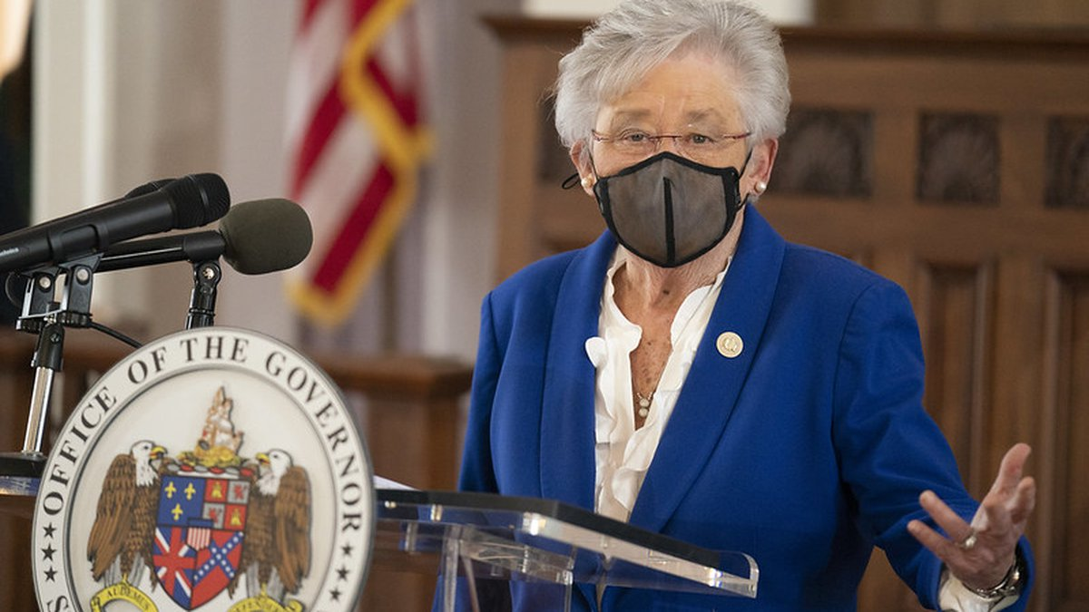Governor Kay Ivey held a Coronavirus update press conference with Alabama State Health Officer...