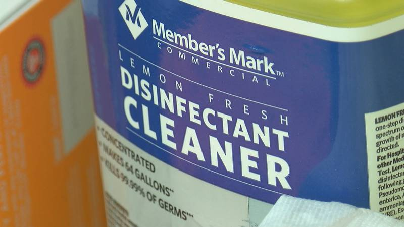 Cleaning companies implementing extra precautions when disinfecting sites.