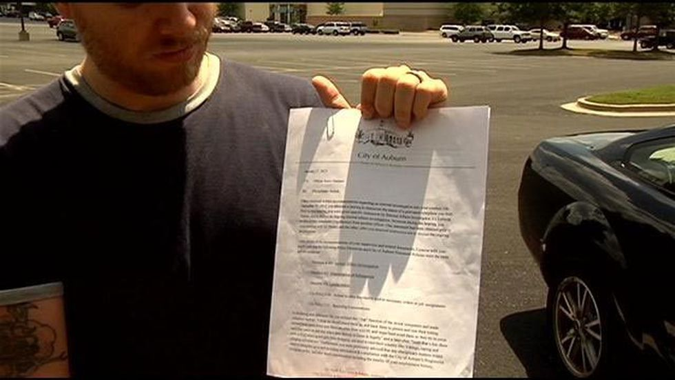 Hanners says this document is part of the evidence he has to prove the police department has a...