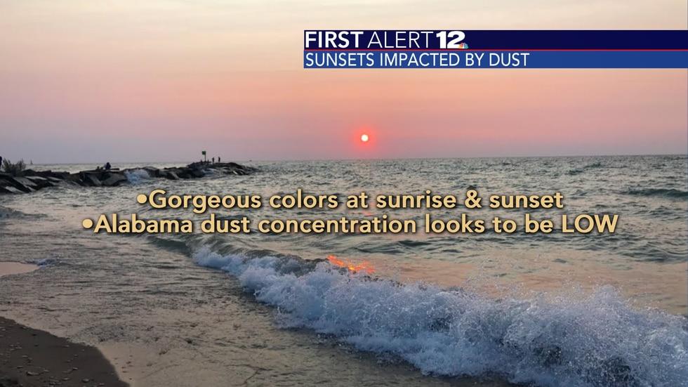 Saharan dust can lead to vivid sunrises and sunsets.