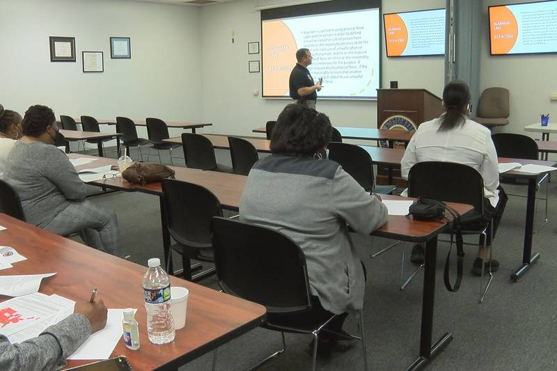 MPD and councilwoman  Audrey Graham hosts firearm familiarization course.