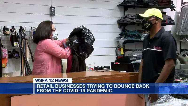 Retailers trying to bounce back from pandemic
