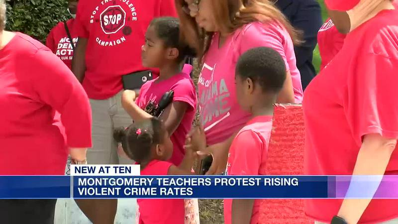 Montgomery educators, residents protest violent crime at capital