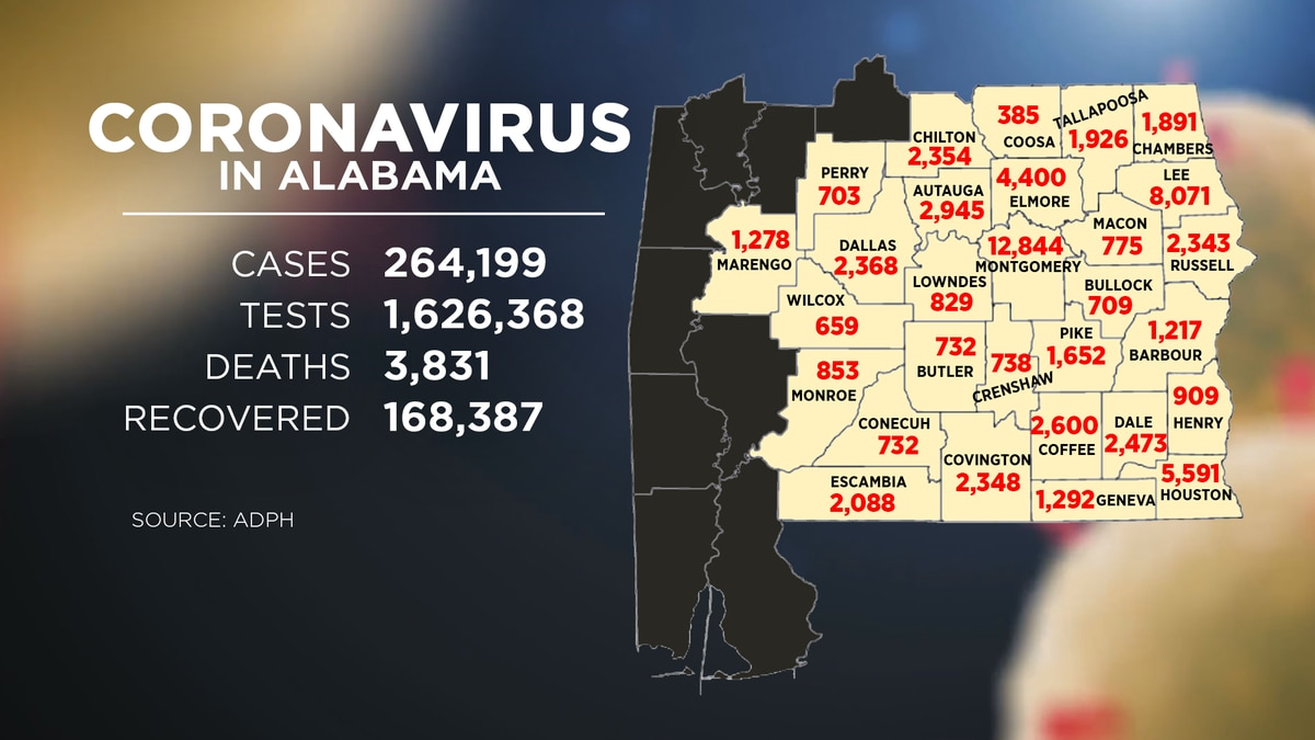Alabama COVID-19 statistics as of Dec. 4.