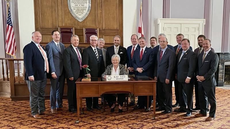 Alabama Gov. Kay Ivey signed the prison infrastructure bills into law Friday.