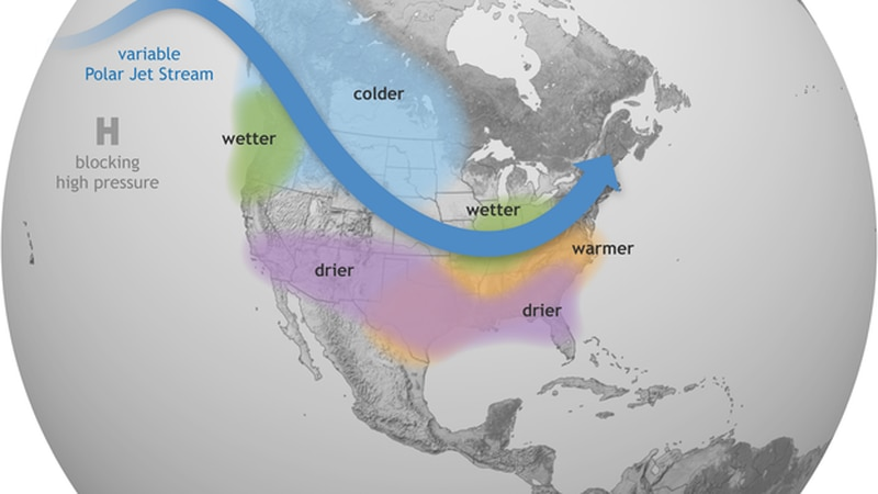 Typically, La Niña brings drier and warmer than average conditions to the south while cooler,...