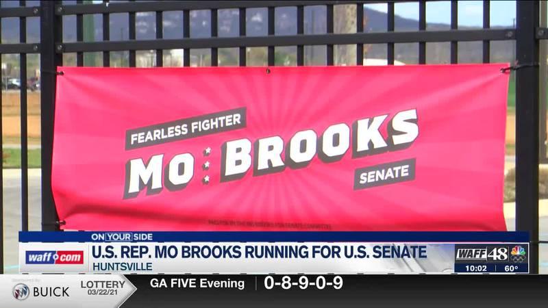 Congressman Mo Brooks announced his candidacy for U.S. Senate Monday night