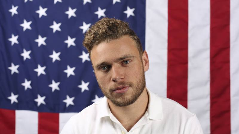 FILE - In this Sept. 25, 2017, file photo, U.S. freestyle skier Gus Kenworthy poses for a...