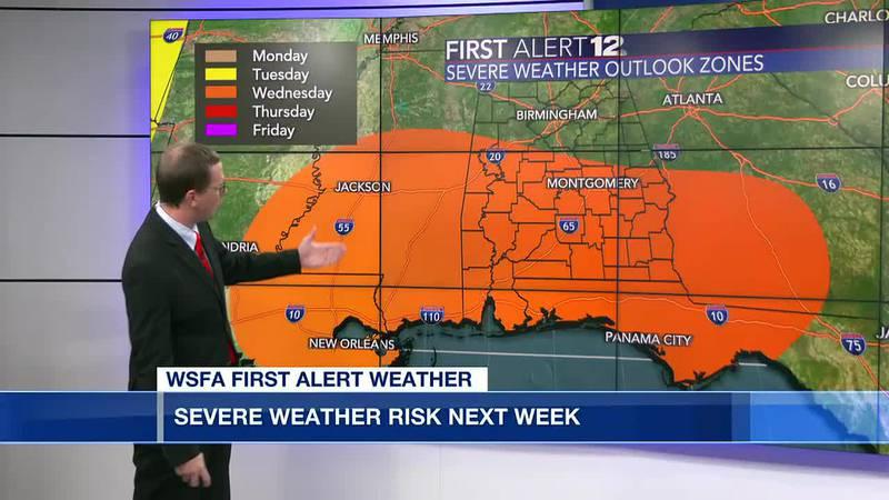 Severe weather risk next week