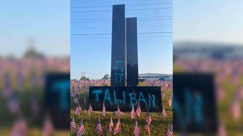 The Greenville County Sheriff's Office released a photo of a Sept. 11 monument that was...