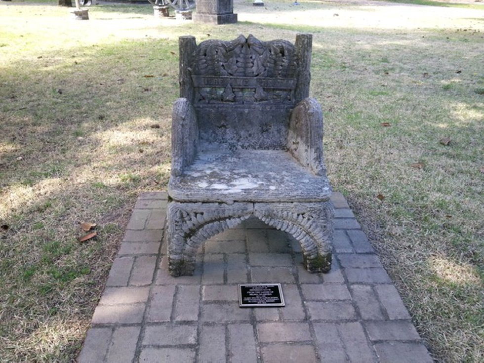 The ornate Jefferson Davis Chair disappeared in March from the Selma cemetery where it had...