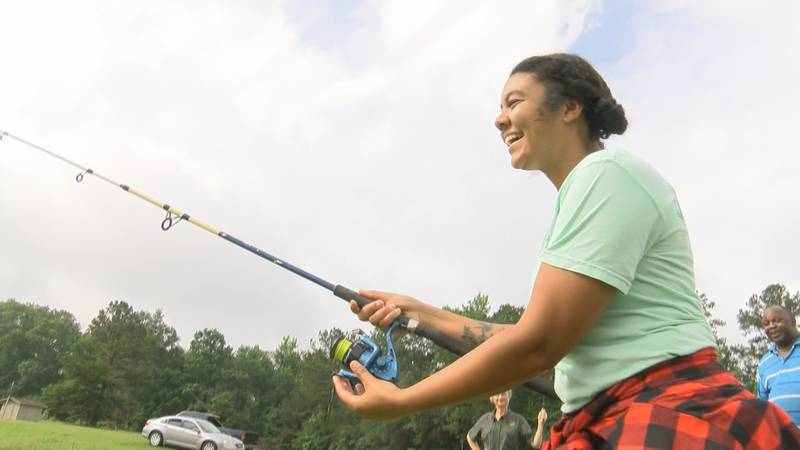 out at the Dallas County Public Fishing Lake, it's not about the size of the fish on your hook,...