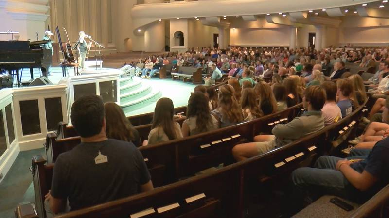 At least 700 attended in-person and virtually, an organizer said.