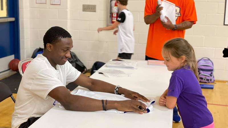 Former Auburn point guard Jared Harper held his first ever youth basketball camp at Lee-Scott...