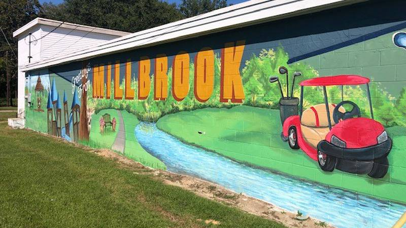 The city of Millbrook turned an old cinder block wall into a colorful creation, and it hopes...