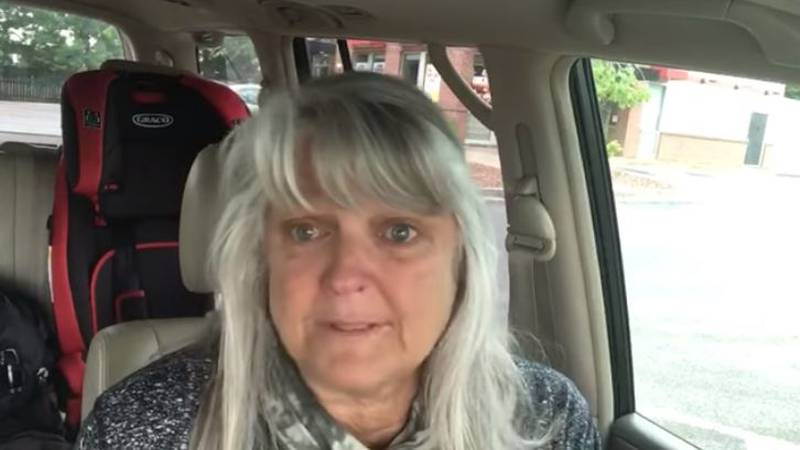 Sharon Hauk took to Facebook to share her story after dropping her husband off at the hospital.