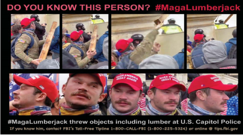 """FBI photo of Herrington as """"MagaLumberjack"""""""