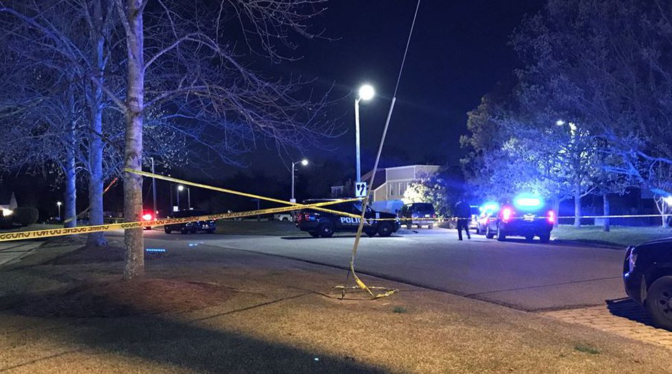 There was a heavy police presence at Bell Road and Green Brook Drive in Montgomery Sunday night.