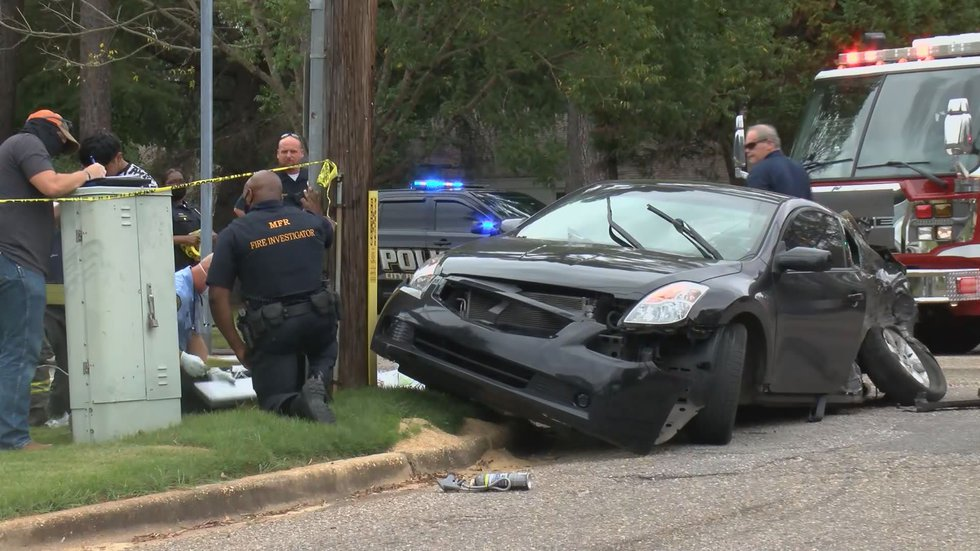 This is the passenger vehicle involved in the ambulance crash on Montgomery's Federal Drive on...