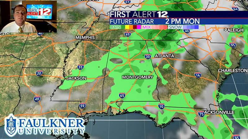 Tracking the latest forecast as we wrap-up the weekend.