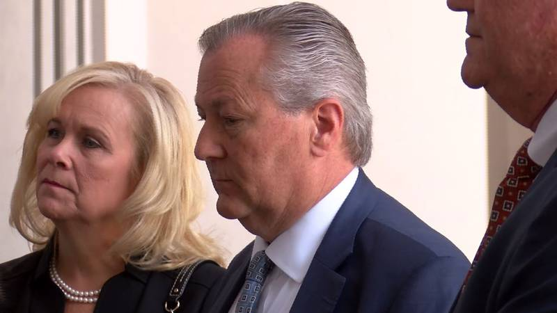 Mike Hubbard and his wife, Susan Hubbard, before Tuesday morning's hearing. Mike Hubbard was...