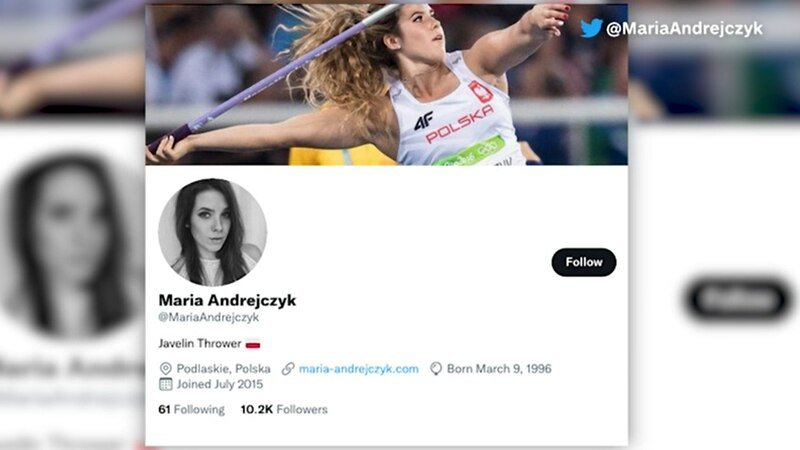Maria Andrejczyk posted she was auctioning off her silver medal from the Tokyo Olympics.